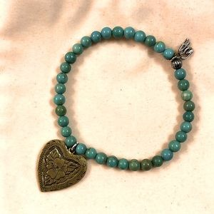 American West Turquoise Sterling Stretch Bracelet